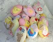 Appliqued Easter Eggs, Eggs, Easter, Easter Decor, Easter Flowers, Easter Bunnies, Easter Angels,Set of 3 Easter Chicks, Easter Butterflys