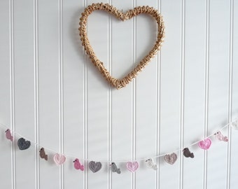 Garland Hearts and Birdies 175 cm