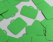 Suitcase Large Confetti - Pack of 35 Pieces - Glitter, Pearl, or Plain Jumbo Confetti, Travel Confetti, Table Decoration