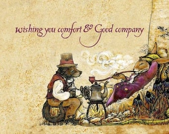 Fox Hollow Tales, comfort and good company, greeting cards