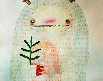 Monster and a Tree - PRINT - various sizes