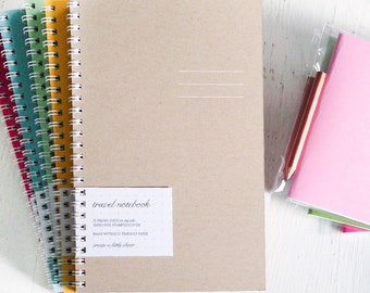 pressed travel notebooks - set of 3