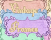 Buy 1 Get 1 FREE Ornate Vintage Frames Ephemera Digital Clipart Scrapbooking Graphics Instant DOWNLOAD