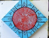 Original Mandala Art: Trade Beads Native Inspired Painting