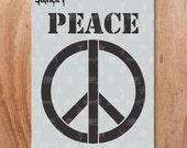 Stencil1 Peace Stencil S1_01_115
