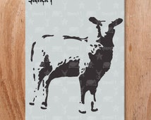 Unique Sheep Stencil Related Items Etsy