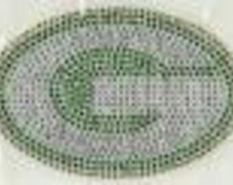 GREEN BAY PACKERS logo diy rhinestud transfer by Daisy Creek Designs