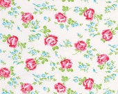 1 Fat Quarter Tanya Whelan Sugar Hill Fabric Scattered Roses White,  FABRIC SALE
