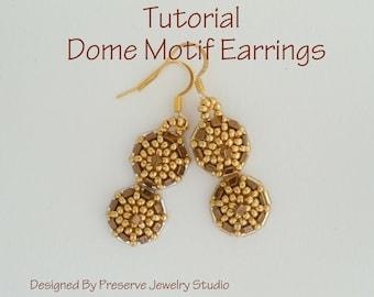 Seed Bead Earring Tutorial - Dome Motif Earrings
