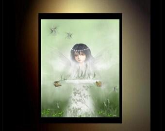 Fantasy Art Fairy Art Print - 8x10 - In the Field of Innocents
