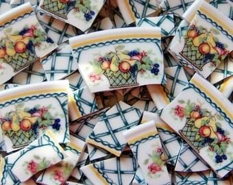 Mosaic Tiles--Fruit Basket - Lattice-100 Tiles