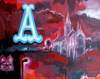 Big A Original Painting by Mark Mattson