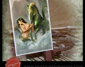LIMITED... Phineas ... ACEO / ATC.. Fantasy Picture...Mermaid and Hippocampus