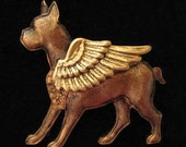 Boxer Dog GUARDIAN ANGEL PIN Boxer Dog Gifts. Jewelry for Dog Lovers by CloudK9 Pet Loss Gifts/ Pet Remembrance / Pet Memorial.  New Style!