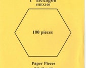 Pack of 2 Paper Pieces Precut Paper 1 Inch Hexagons English Paper Piecing 200 Count Quilting Sewing On The Go