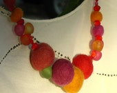 Autumn Felted beaded Necklace