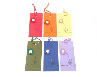 Rainbow Set Of 6 Card Stock Bookmarks
