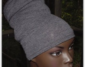 Headband-Tube-Locs-Natural Hair Accessories-Acrylic-Gray