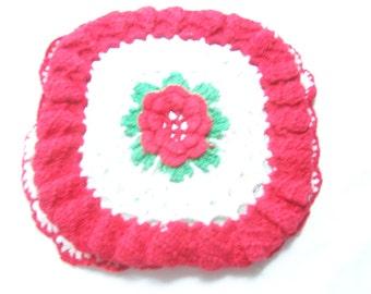 Vintage Crocheted Hot Pad Set
