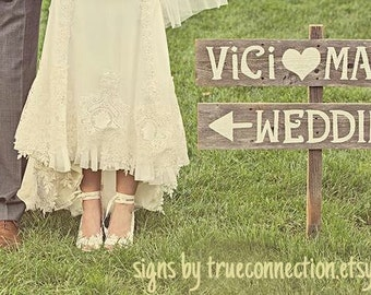 Arrow Wedding Signs, Personalized Signs, Rustic Wedding Signs, Wood Wedding Signs, Country Wedding Decor, Wood Arrow Sign, Personalized Sign