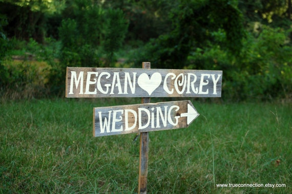 Arrow Wedding Signs With Names For Road And By TRUECONNECTION