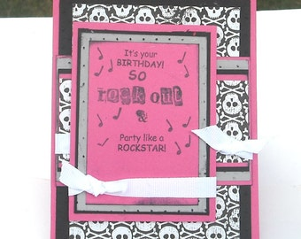 Birthday Card, Punk Music Birthday Card, Rock Music Card, It's Your Birthday So Party Like a Rock Star
