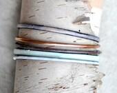 Handcrafted Bangle Set - 'Farthing' - 5 Piece Set - Pastel Enamel Bracelets