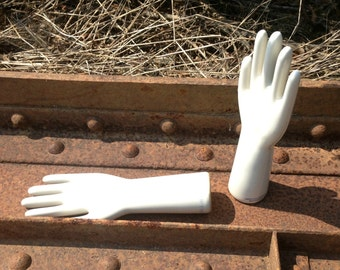 Industrial Porcelain Glove Mold - Industrial Decor Large Hunk of Love