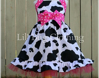 Cowgirl Girls Dress, Western Wear Pageant Dress, Western Wear Outfit, Cow Print Girls Dress, Rodeo Dress, Boutique Girl Clothes