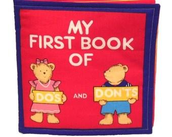 CLOTH / SOFT BOOK -  Do's and Don'ts - Teach Kids Safety / Good Behavior