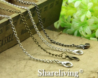4pcs Silver /  Bronze / Shinny Silver  Finished Twisted Chains