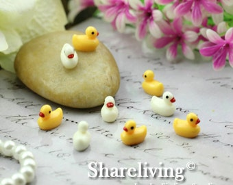 10pcs DIY 12mm Resin Duck for Glass Bottle Decoration