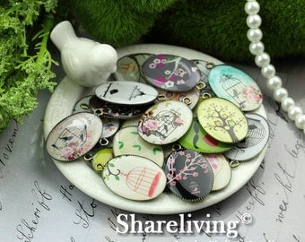 Big Sale - 10pcs 18x25mm Handmade Photo Bronze Resin Charm / Pendant Kits -- RP000B