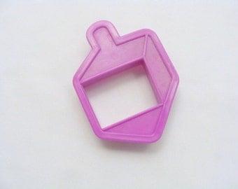 Purple Dreidle Imprint Cookie Cutter