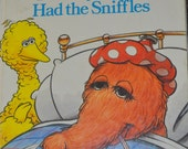 Vintage Children's Book The Day Snuffy Had the Sniffles Sesame Street  Little Golden Book