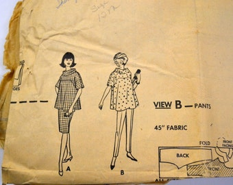 Vintage 1960's Sewing Pattern McCall's 6402 Maternity Blouse Skirt Pants Size 12 Complete