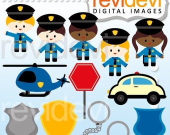 Police clipart - Police Officer Cliparts - Instant Download - Police man clip art - digital images