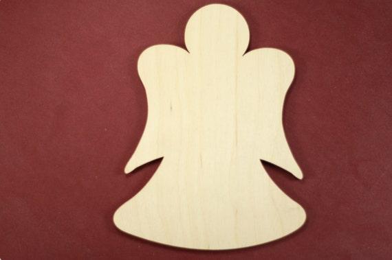 Angel Shape Unfinished Wood Laser Cut Shapes Crafts By Cwlubin