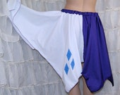My Little Pony Rarity Diamonds Cutie Mark Embroidered Bustle Flare Skirt Adult ALL Sizes - MTCoffinz