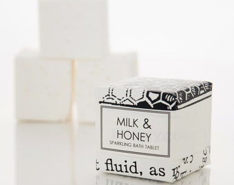 Milk & Honey Bath Fizzy - Bath Salt Tablet