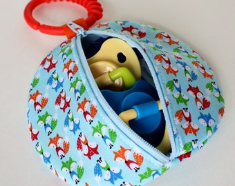 Fox Paci Pod Preppy Foxes Boy Pacifier Pouch