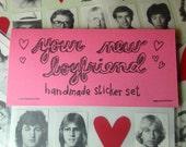 MADE TO ORDER your new boyfriend handmade sticker set