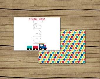 25 4x5 Choo Choo Train Thank You Cards