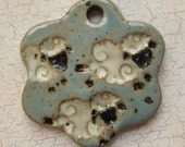 Custom Large Handmade Clay Pottery Pendant Charm or Ornament - Choose Shape and Color - Jumping Sheep