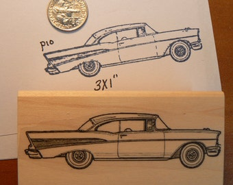 Antique car rubber stamp WM Chevy 1957  P10
