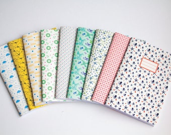 Notebook - Set of 3 blank notebooks - School supplies - Choose your Cahier Cover - Cute Paper Goods