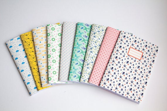 Notebook Set Of 3 Blank Notebooks School Supplies Choose