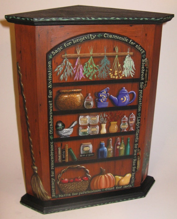 Witch S Herbal Pantry Apothecary Original Hand Painted