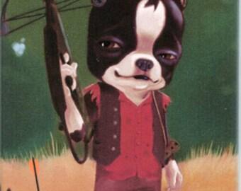 Walking Dead Daryl Dixon Boston Terrier magnet