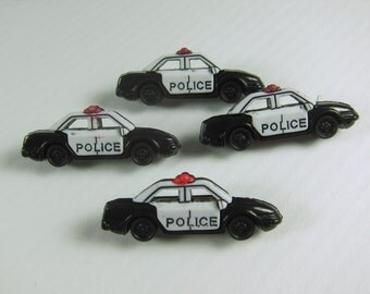 Police Car Novelty Buttons